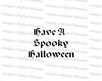 Have A Spooky Halloween Digital Stamp Image