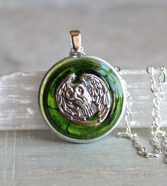 owl necklace, owl jewelry, nature necklace, unique gift, animal jewelry, animal necklace, bird jewelry, bird necklace, wiccan jewelry