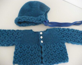 Hand Knitted Sweater, Cap & Dress