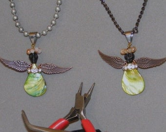 Goth Angel Necklace