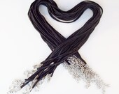 "50 ""Bailey"" Necklaces - Black 17-19"" inch 3mm"