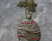 Vintage Tree Ornament Pendant Necklace