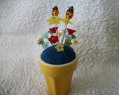 Yellow mug Pin Cushion