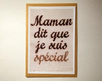Card // Mum says I'm special