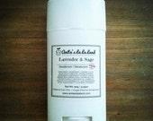 Lavender & Sage Natural Deodorant - Deodorizing Essential Oil Blend, Extra Strength, Aluminum Free
