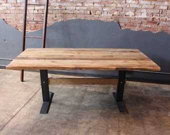 Reclaimed Trestle Style Dining Table