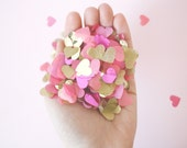 Pink and Gold Heart Confetti ... Valentines Day Party Decor, Wedding and Party Decorations