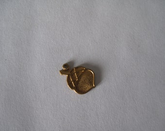 Mini Brass Acorn Charm