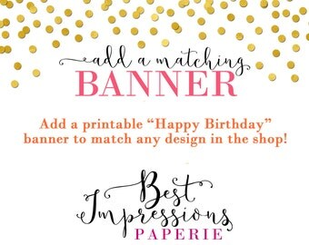"""Printable """"Happy Birthday"""" Banner to Match any Design"""