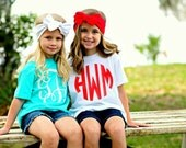 Monogrammed Toddler Girls T-Shirt - Vinyl - Heat Pressed