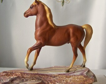 Vintage Liver Chestnut Horse Statue Breyer Horse Collectible Figurine Horse Lover Vintage 1980s