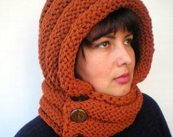 EternitySpice Color    Hoodie Acrilyc Yarn Hood Woman Chunky  Hooded Cowl NEW