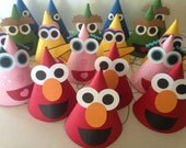 CUSTOM ORDER for R. Soe -- (10) Sesame Street Birthday Party Hats