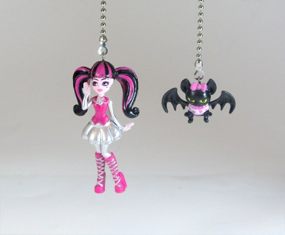 Monster High Ceiling Fan Light Pull Set Draculaura Amp Count
