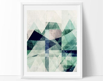 Scandinavian design, geometric abstract, minimalist print, Abstract poster, Mid century modern art, Mountains print, Triangle wall art