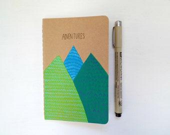Stocking stuffer Secret Santa gift, Xmas gift Travel journal, Travelers notebook Hiking journal Adventure journal, Moleskine Travel notebook