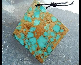 Turquoise Gemstone Pendant Bead,37x33x3mm,5.1g