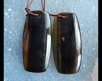 Tiger's Eye Gemstone Earring Bead,33x16x4mm,8.54g