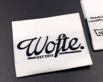 300 HD woven label, high quality woven labels, custom woven labels, clothing labels