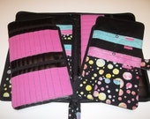 Deluxe Spill Proof Needlecase in Sassy Dots with Pinkfor tips, circs and short dpns