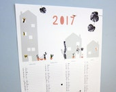 2017 large animal poster calendar