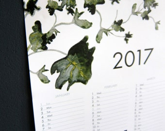 SALE - 2017 large succulents poster calendar