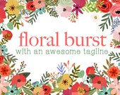 Floral Burst Blog Business Website Logo Branding Header