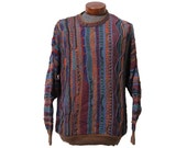 Colorful Coogi Style Sweater Biggie Snoop Size Large