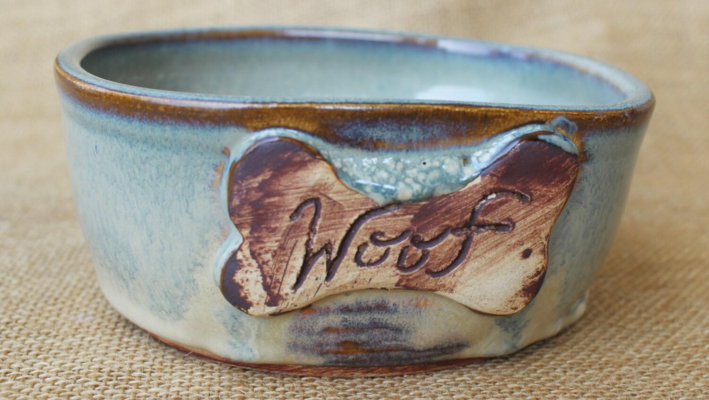 Ceramic dog bowl Pottery Medium to Large dog ready to ship - photo#19