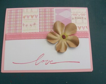 """Valentine's Day """"Love"""" Cards-Pack of 4"""