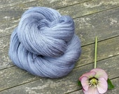 Grey Laceweight Yarn, Hand Dyed Singles Lace Yarn, Falkland Merino yarn, British wool, 100g