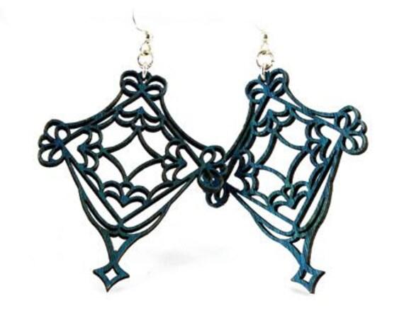Fretwork -  Wood Earrings