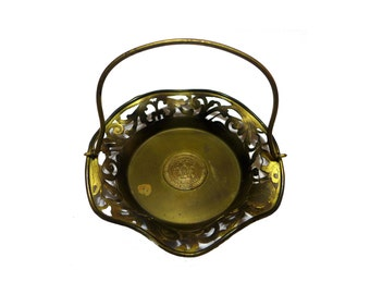 19th C Gold Washed Brooklyn Masonic Temple Tray