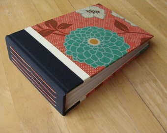 Flower Photo Album/ Salmon & Teal/  4x6 or 5x7