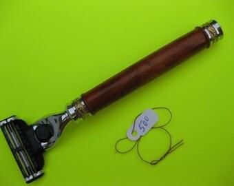 Razor Mach 3, Venus women Razor handle, Majestic razor gold handle, Ambonya Burl wood, art of shavers, shaving razor, woodturning,