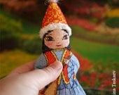 Sholpan-Kazakhstan doll double sided toy - Cross stitch pattern