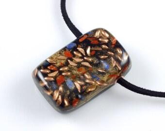 Pocket/Pendant Orgonite® with  Arkansas Crystals, Lapis, Jasper, Elite Shungite, Petalite, Phenacite, Tourmaline, Selenite (s25)