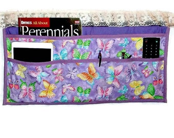 Lavender bedside caddy butterfly theme