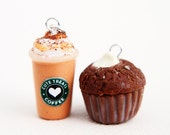 Pumpkin Spice Frappuccino and Pumpkin cheesecake muffin