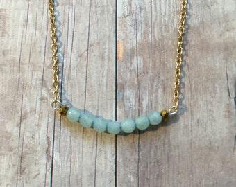 Gorgeous amazonite layering necklace
