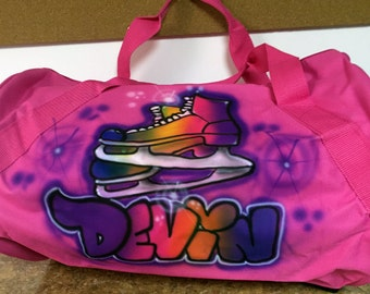Airbrush Duffle Bags. Personalized  sports bag, gym bag. Kids
