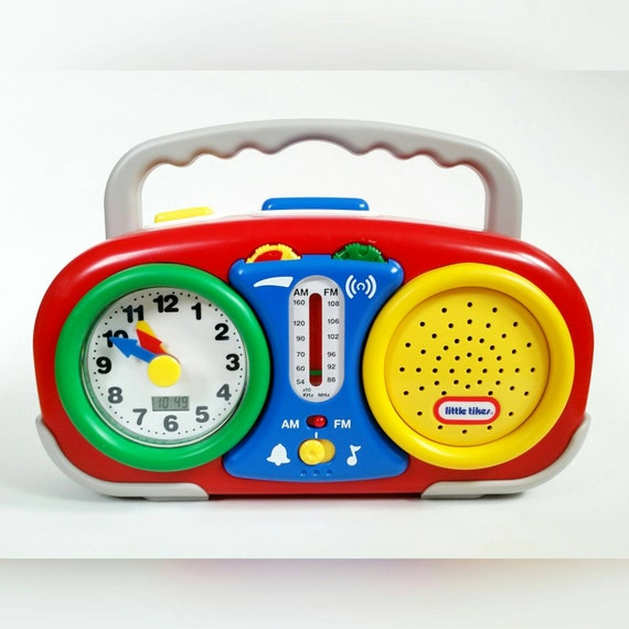 items similar to 1990s toys little tikes toys radio alarm clock with snooze for kids portable. Black Bedroom Furniture Sets. Home Design Ideas