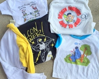 GRAB BAG Vintage Lot of 5...kids. retro. twiggy. mad men. funky. small. medium. op. random. kids. comical. screen stars. mens. womens