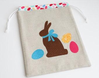 Reusable Easter Bunny Gift Bag - fabric and reusable - Treat Bag