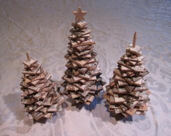 Birch Christmas Tree Ornamental