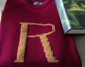 Harry Potter Sweater - Custom Weasley Sweater made just for you - Your initial on a sweater - Monogram