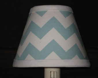 Turquoise/Aqua Chevron Nursery Night Light