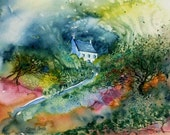 In the Eye of the Storm  - Watercolour painting -original - 11 x 9 inches