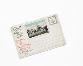 Vintage San Francisco California Souvenir Postcard Book Of The Panama-Pacific International Exposition of 1915