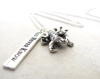 Fairytale Necklace, Prince Charming Necklace, Frog Necklace, Toad Necklace, Princess Necklace, Storybook Nekclace